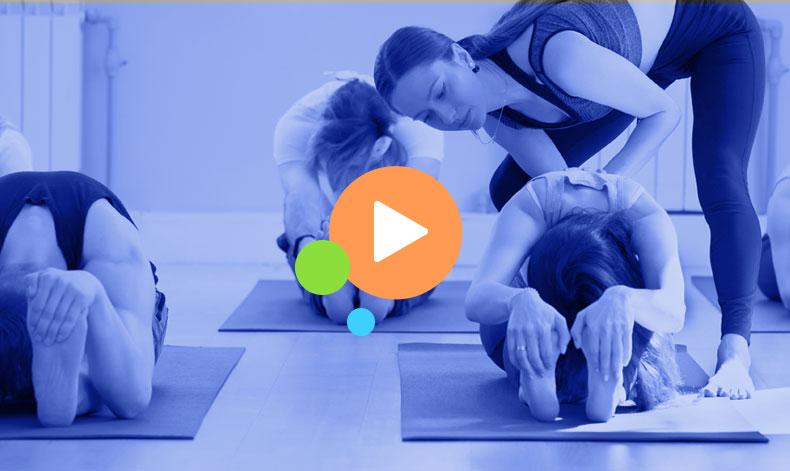 women instructing fitness class