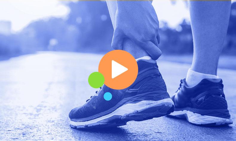 man in sneakers exercising