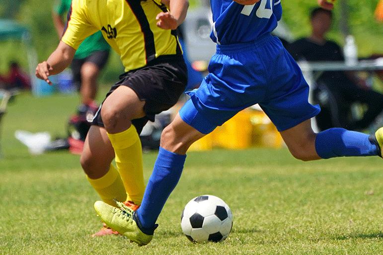 college men's soccer game